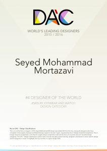 WORLD DESIGN RANKING 2010-2015,سید محمد مرتضوی,طراحی طلا و جواهر