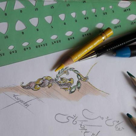 طراحی دستی طلا و جواهر