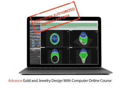 ONLINE Advanced gold and jewelry design with computer