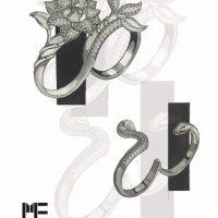 طراحی دستی طلا و جواهر,طراحی کلاسیک طلا,طراحی دستی جواهرات