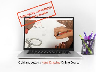 Online gold and jewelry design with hand Course