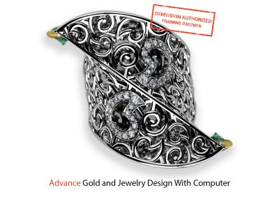 Advanced gold and jewelry design with computer course