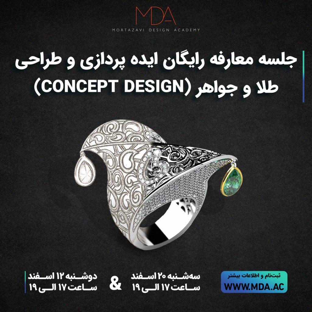 ایده پردازی,طراحی طلا و جواهر,آموزش طراحی طلا