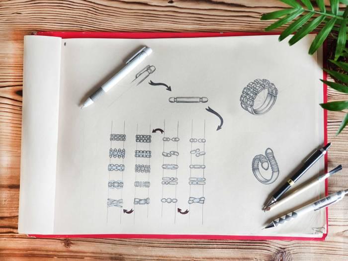 کانسپت دیزاین,طراحی دستی طلا,ایده پردازی طلا,طراحی طلا و جواهر